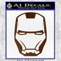 Robotman Helmet Decal Sticker Brown Vinyl 120x120