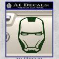 Robotman Helmet Decal Sticker Dark Green Vinyl 120x120