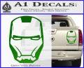 Robotman Helmet Decal Sticker Green Vinyl 120x97