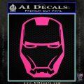 Robotman Helmet Decal Sticker Hot Pink Vinyl 120x120