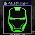 Robotman Helmet Decal Sticker Lime Green Vinyl 120x120