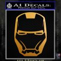 Robotman Helmet Decal Sticker Metallic Gold Vinyl 120x120
