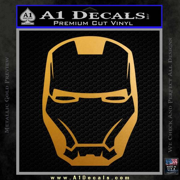 Robotman Helmet Decal Sticker Metallic Gold Vinyl