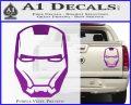 Robotman Helmet Decal Sticker Purple Vinyl 120x97