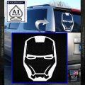 Robotman Helmet Decal Sticker White Vinyl Emblem 120x120