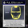 Robotman Helmet Decal Sticker Yellow Vinyl 120x120