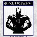 Robotman Posing Decal Sticker Black Vinyl Logo Emblem 120x120