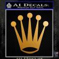 Rolex Crown Decal Sticker Metallic Gold Vinyl 120x120