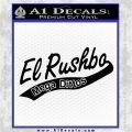 Rush Limbaugh Decal Sticker El Rushbo Black Vinyl Logo Emblem 120x120