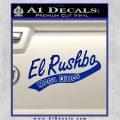 Rush Limbaugh Decal Sticker El Rushbo Blue Vinyl 120x120