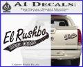 Rush Limbaugh Decal Sticker El Rushbo Carbon Fiber Black 120x97