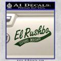 Rush Limbaugh Decal Sticker El Rushbo Dark Green Vinyl 120x120