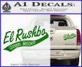 Rush Limbaugh Decal Sticker El Rushbo Green Vinyl 120x97