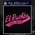Rush Limbaugh Decal Sticker El Rushbo Hot Pink Vinyl 120x120
