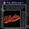 Rush Limbaugh Decal Sticker El Rushbo Orange Vinyl Emblem 120x120