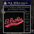 Rush Limbaugh Decal Sticker El Rushbo Pink Vinyl Emblem 120x120
