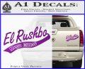Rush Limbaugh Decal Sticker El Rushbo Purple Vinyl 120x97