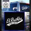 Rush Limbaugh Decal Sticker El Rushbo White Vinyl Emblem 120x120