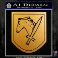 SS Cavalry Division Florian Geyer Decal Sticker Metallic Gold Vinyl 120x120