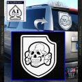 SS Division Totenkopf Deaths Head Decal Sticker DB White Vinyl Emblem 120x120