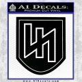SS Panzer Division Das Reich Decal Sticker Black Vinyl Logo Emblem 120x120