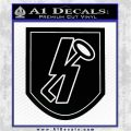 SS Panzer Division Hitlerjugend Decal Sticker Black Vinyl Logo Emblem 120x120