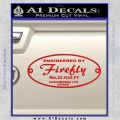 Serenity Name Plate Decal Sticker 03 K64 Firefly Red Vinyl 120x120