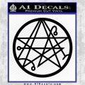 Sigil of the Gateway of Cthulu Necronomicon Decal Sticker Black Vinyl Logo Emblem 120x120