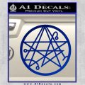 Sigil of the Gateway of Cthulu Necronomicon Decal Sticker Blue Vinyl 120x120