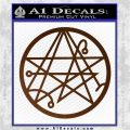 Sigil of the Gateway of Cthulu Necronomicon Decal Sticker Brown Vinyl 120x120