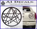 Sigil of the Gateway of Cthulu Necronomicon Decal Sticker Carbon Fiber Black 120x97