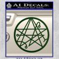 Sigil of the Gateway of Cthulu Necronomicon Decal Sticker Dark Green Vinyl 120x120