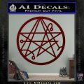 Sigil of the Gateway of Cthulu Necronomicon Decal Sticker Dark Red Vinyl 120x120