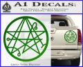 Sigil of the Gateway of Cthulu Necronomicon Decal Sticker Green Vinyl 120x97