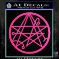Sigil of the Gateway of Cthulu Necronomicon Decal Sticker Hot Pink Vinyl 120x120