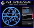 Sigil of the Gateway of Cthulu Necronomicon Decal Sticker Light Blue Vinyl 120x97
