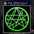 Sigil of the Gateway of Cthulu Necronomicon Decal Sticker Lime Green Vinyl 120x120