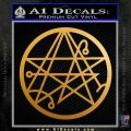 Sigil of the Gateway of Cthulu Necronomicon Decal Sticker Metallic Gold Vinyl 120x120