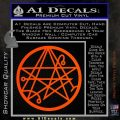 Sigil of the Gateway of Cthulu Necronomicon Decal Sticker Orange Vinyl Emblem 120x120