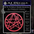 Sigil of the Gateway of Cthulu Necronomicon Decal Sticker Pink Vinyl Emblem 120x120