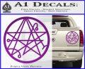 Sigil of the Gateway of Cthulu Necronomicon Decal Sticker Purple Vinyl 120x97