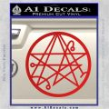 Sigil of the Gateway of Cthulu Necronomicon Decal Sticker Red Vinyl 120x120