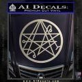 Sigil of the Gateway of Cthulu Necronomicon Decal Sticker Silver Vinyl 120x120