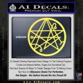 Sigil of the Gateway of Cthulu Necronomicon Decal Sticker Yellow Vinyl 120x120