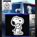 Snoopy and Woodstock Hug Decal Sticker D2 White Vinyl Emblem 120x120