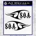 Sons of Anarchy Decal Sticker 2pk Black Vinyl Logo Emblem 120x120