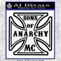 Sons of Anarchy Decal Sticker Iron Cross Black Vinyl Logo Emblem 120x120