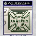 Sons of Anarchy Decal Sticker Iron Cross Dark Green Vinyl 120x120