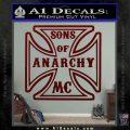 Sons of Anarchy Decal Sticker Iron Cross Dark Red Vinyl 120x120