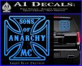 Sons of Anarchy Decal Sticker Iron Cross Light Blue Vinyl 120x97